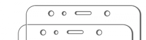 Galaxy A7のガラスフィルムのノッチ